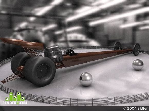preview New technology.Dragster.