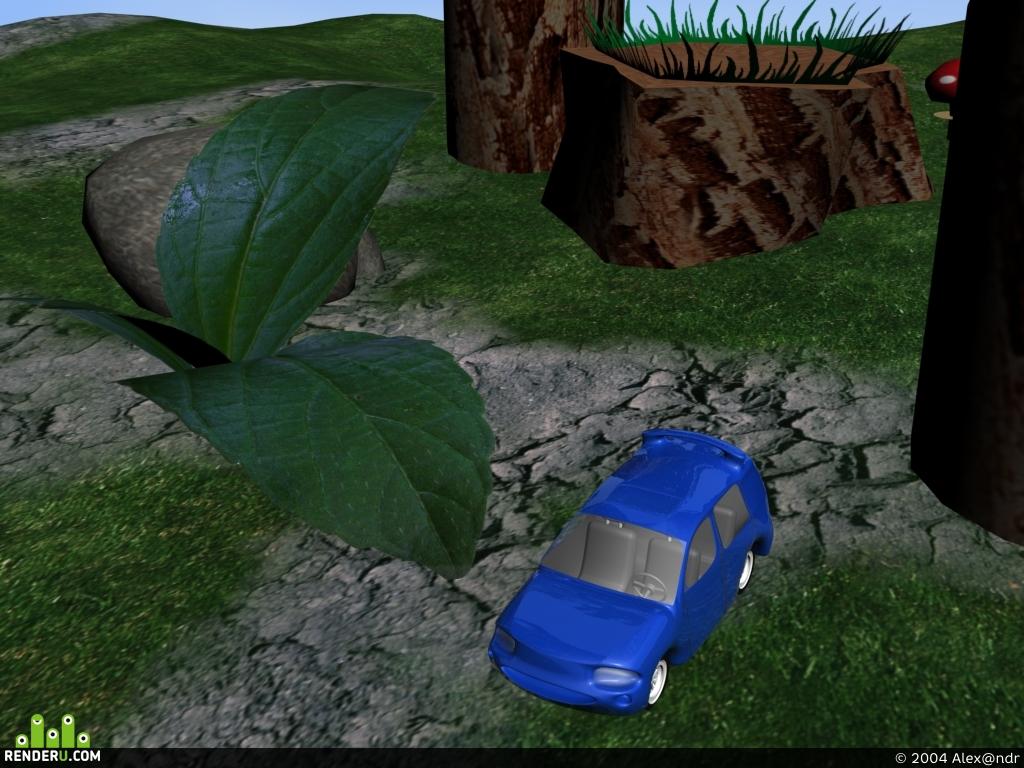 preview RC mashina v lesu