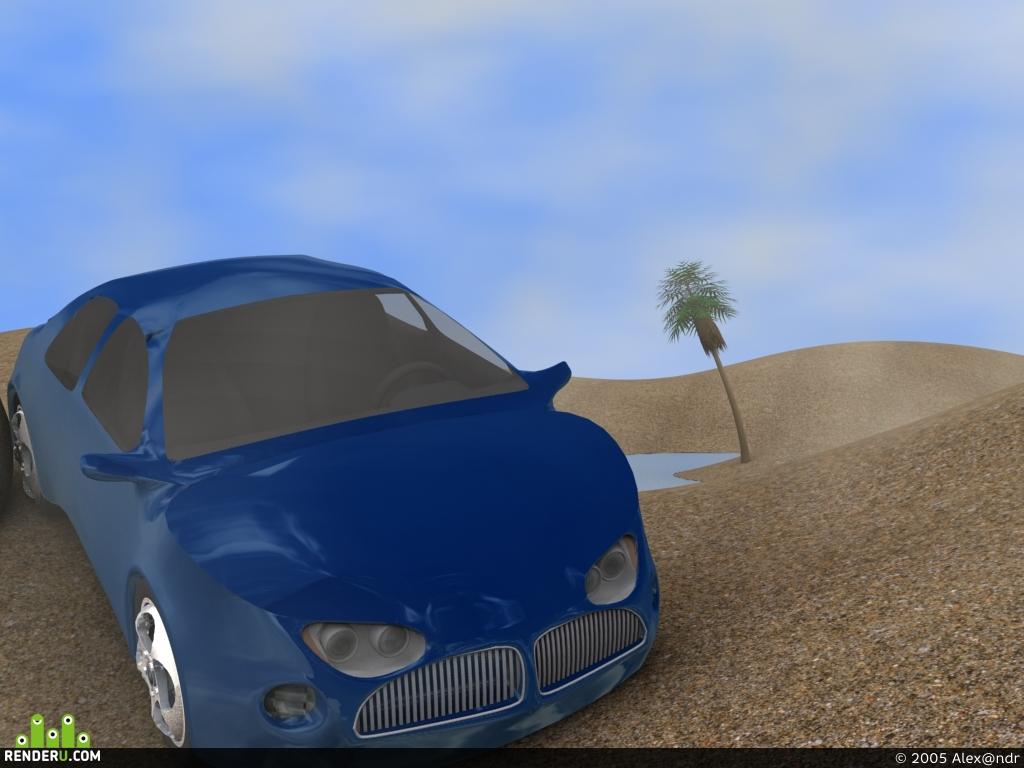 preview Car in desert