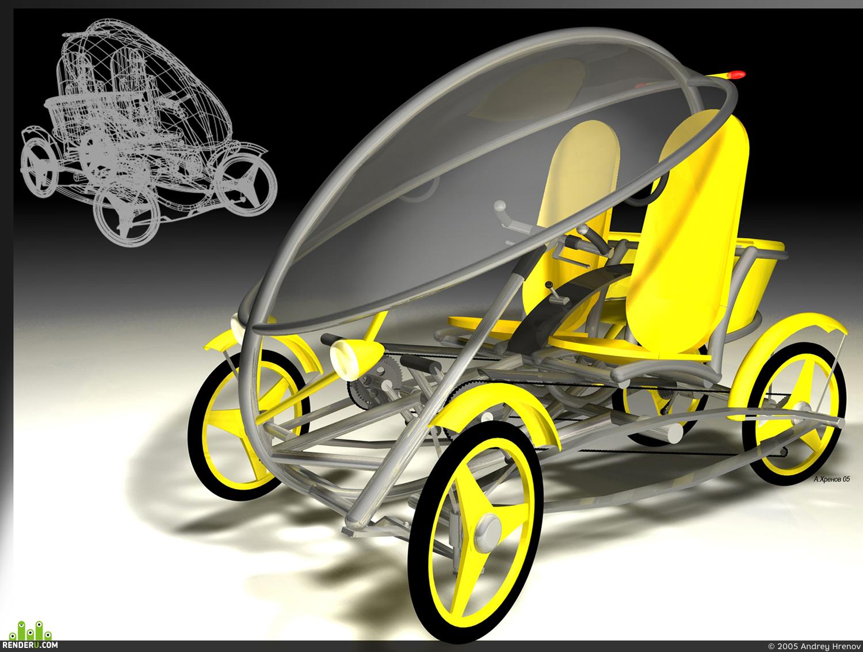 preview Dizayn-proekt progulochnogo velomobilya