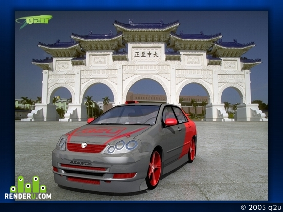 preview -=toyota corolla tuning red=-