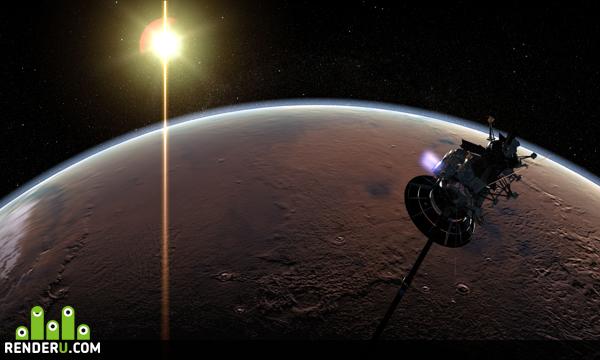 preview Cassini  Mars over