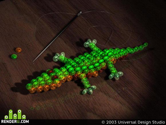 preview Krokodilchik iz bisera