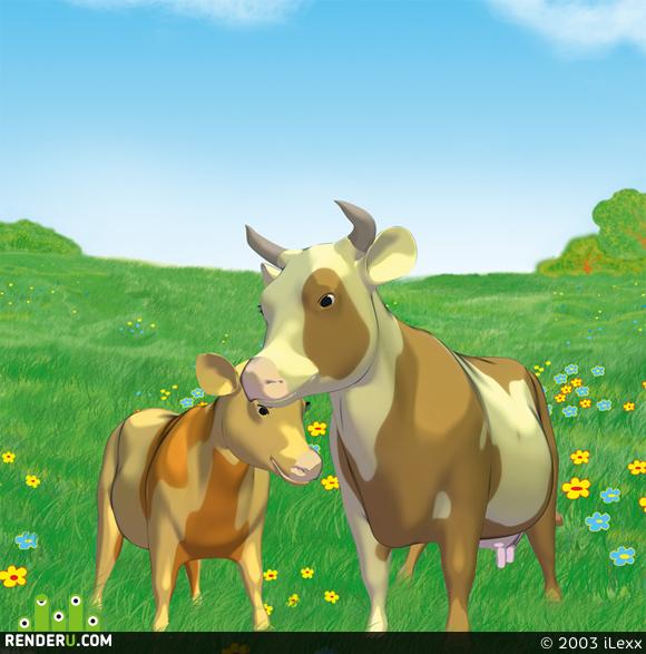 preview Cartoon Cows