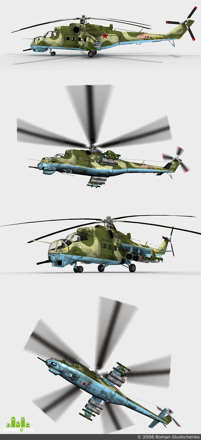 preview Mi-24(low-poly)