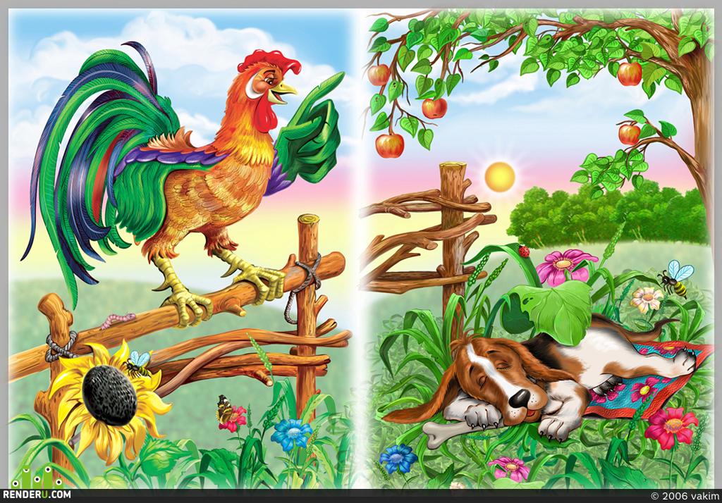 preview иллюстрация к детским стихам
