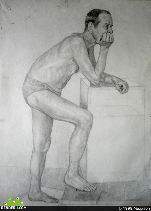 preview рисунок обнажённой фигуры