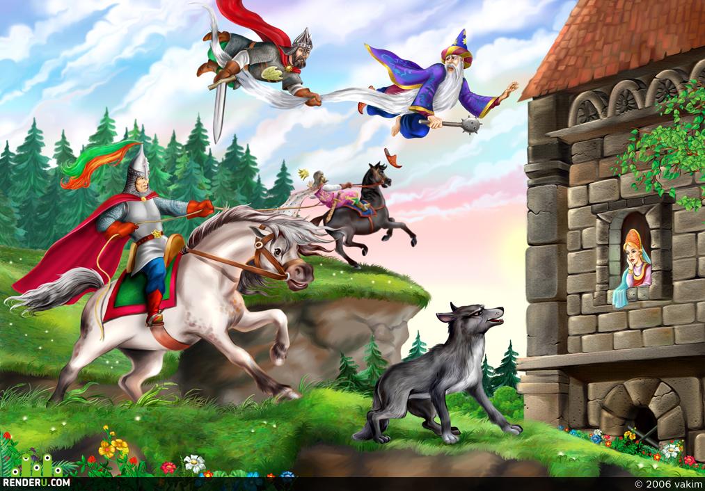 preview иллюстрация к детской книжке
