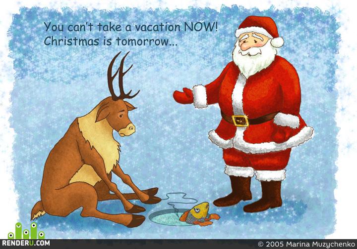 preview Santa i olen