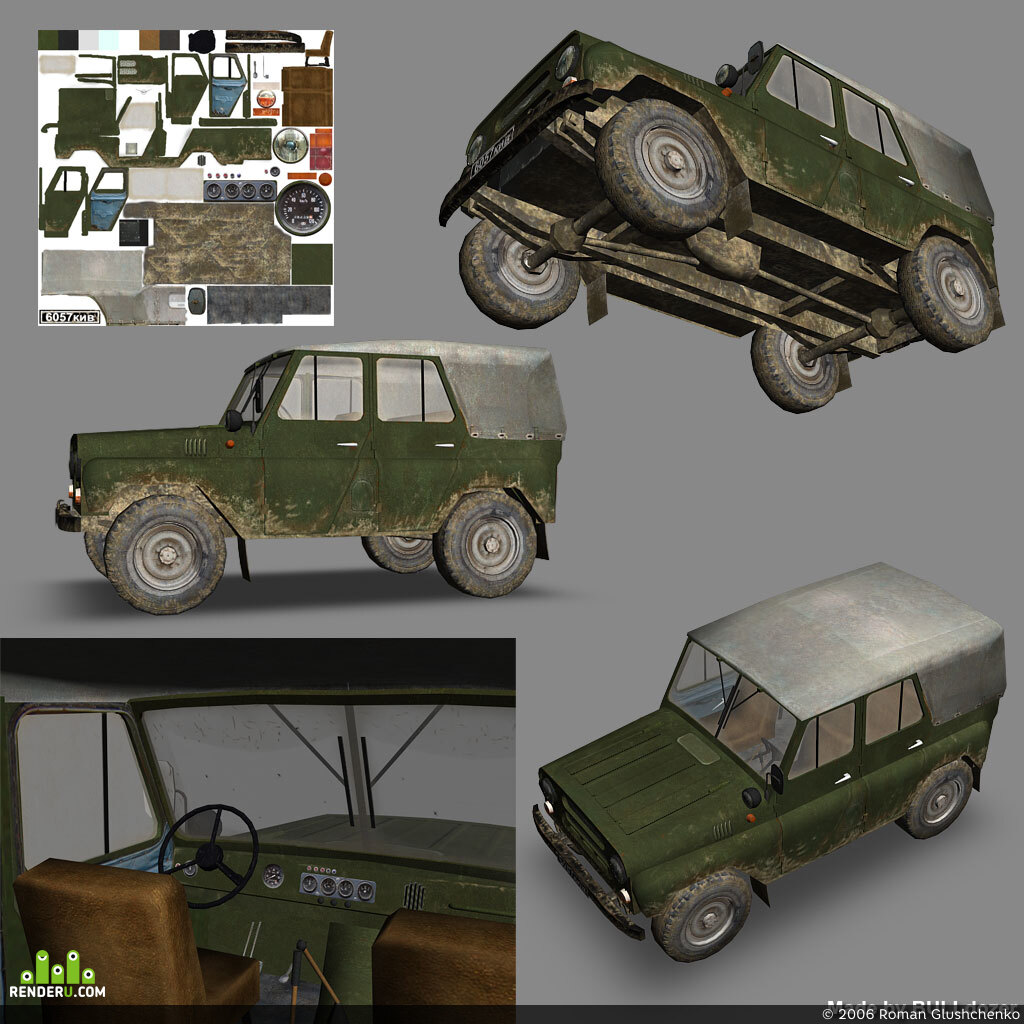preview УАЗ-3151 Low Poly