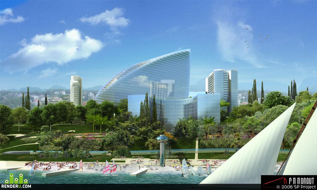 preview Vizualizatsiya gostinichnogo kompleksa v g. Sochi