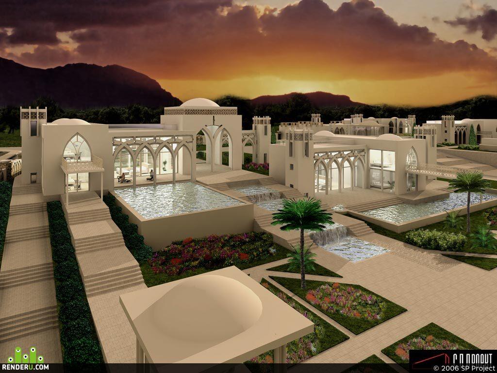 preview Визуазлизация элитного гостиничного комплекса в Турции