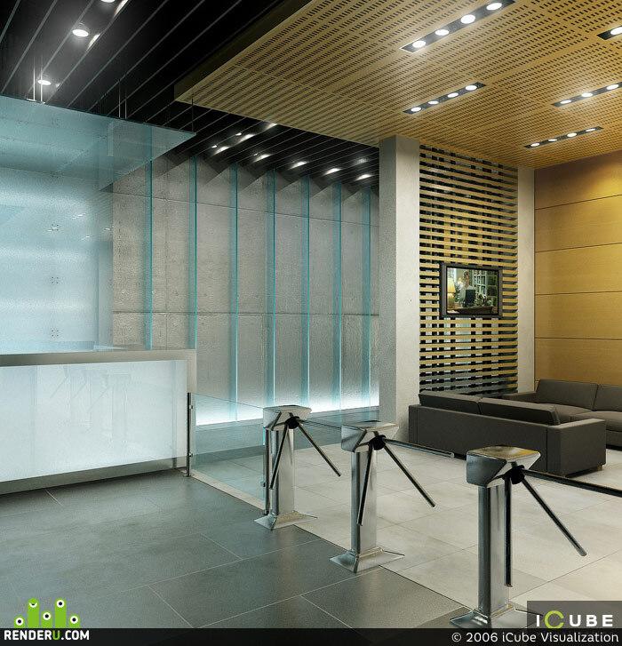 preview Интерьер вестибюля офисного центра на Звенигородском шоссе