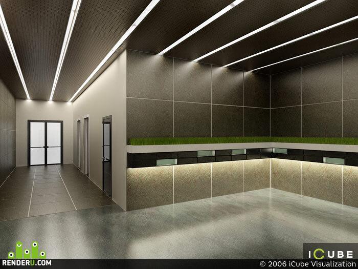 preview Концепция интерьеров общих зон жилого корпуса «А» административно-жилого комплекса