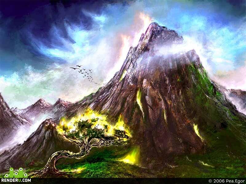 preview Горящая гора