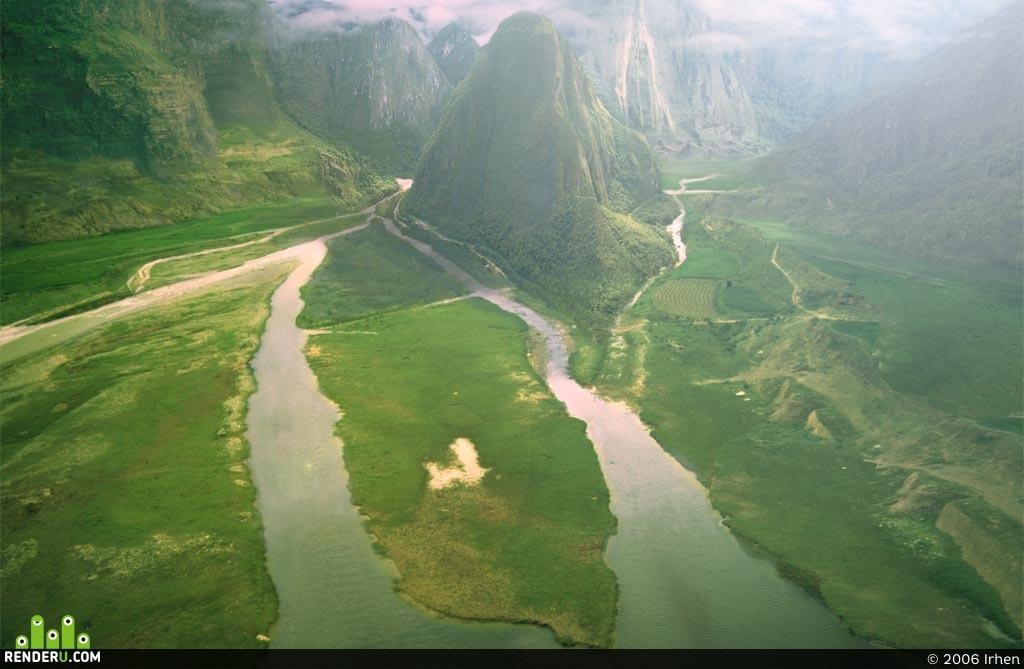 preview Зелёный пейзаж с горой:)