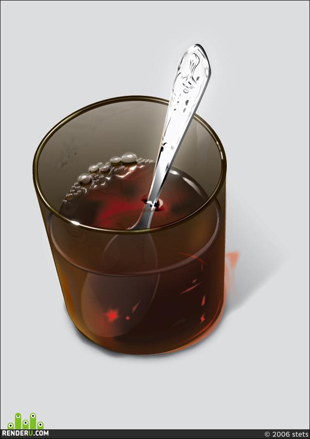 preview Стакан с чаем...