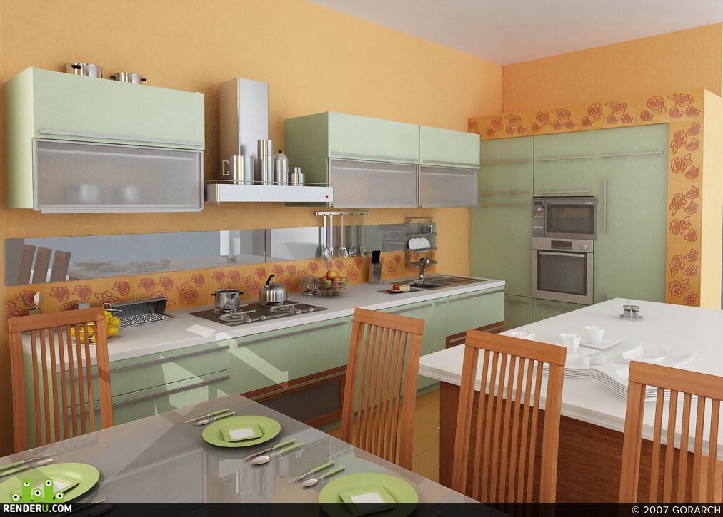 preview Эскизный вариант кухни-столовой