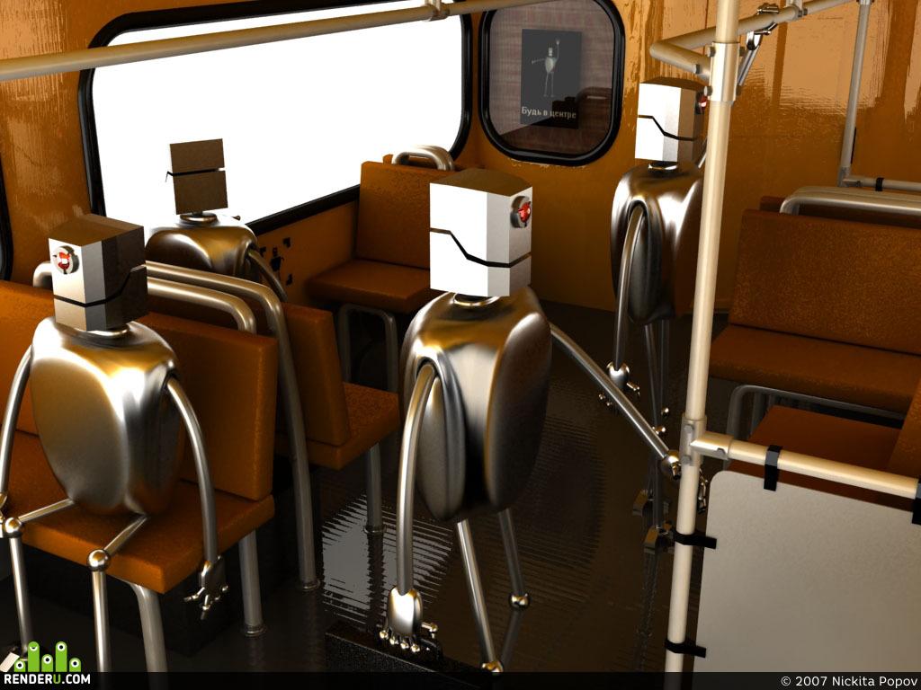preview Роботы в автобусе