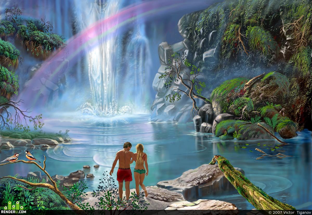 preview У водопада