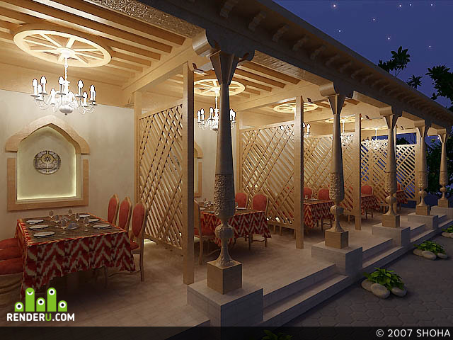 preview Летний ресторан в восточном стиле