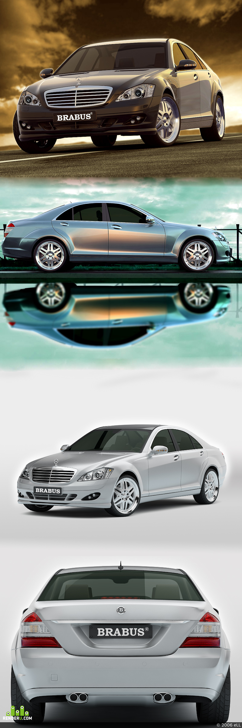 preview Mersedes Brabus s600 w221