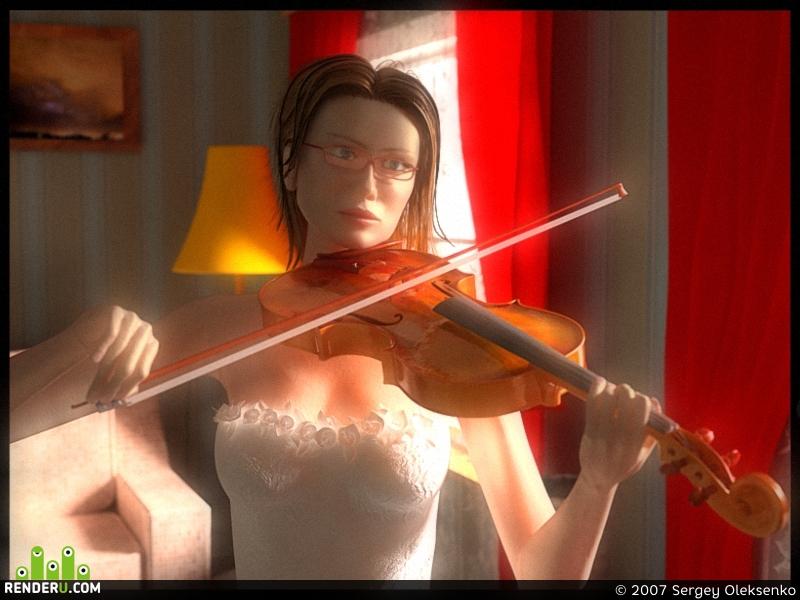preview Девушка со скрипкой