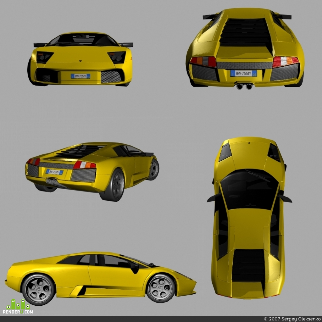 preview Lamborghini low-poly