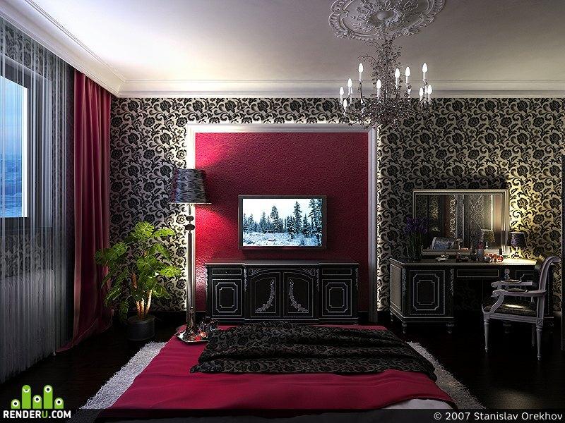 preview квартира в москве. спальня.