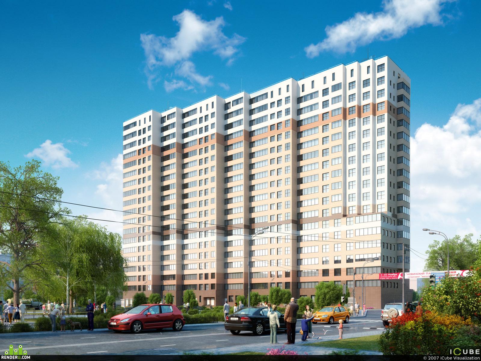preview Визуализация офисно-жилого комплекса