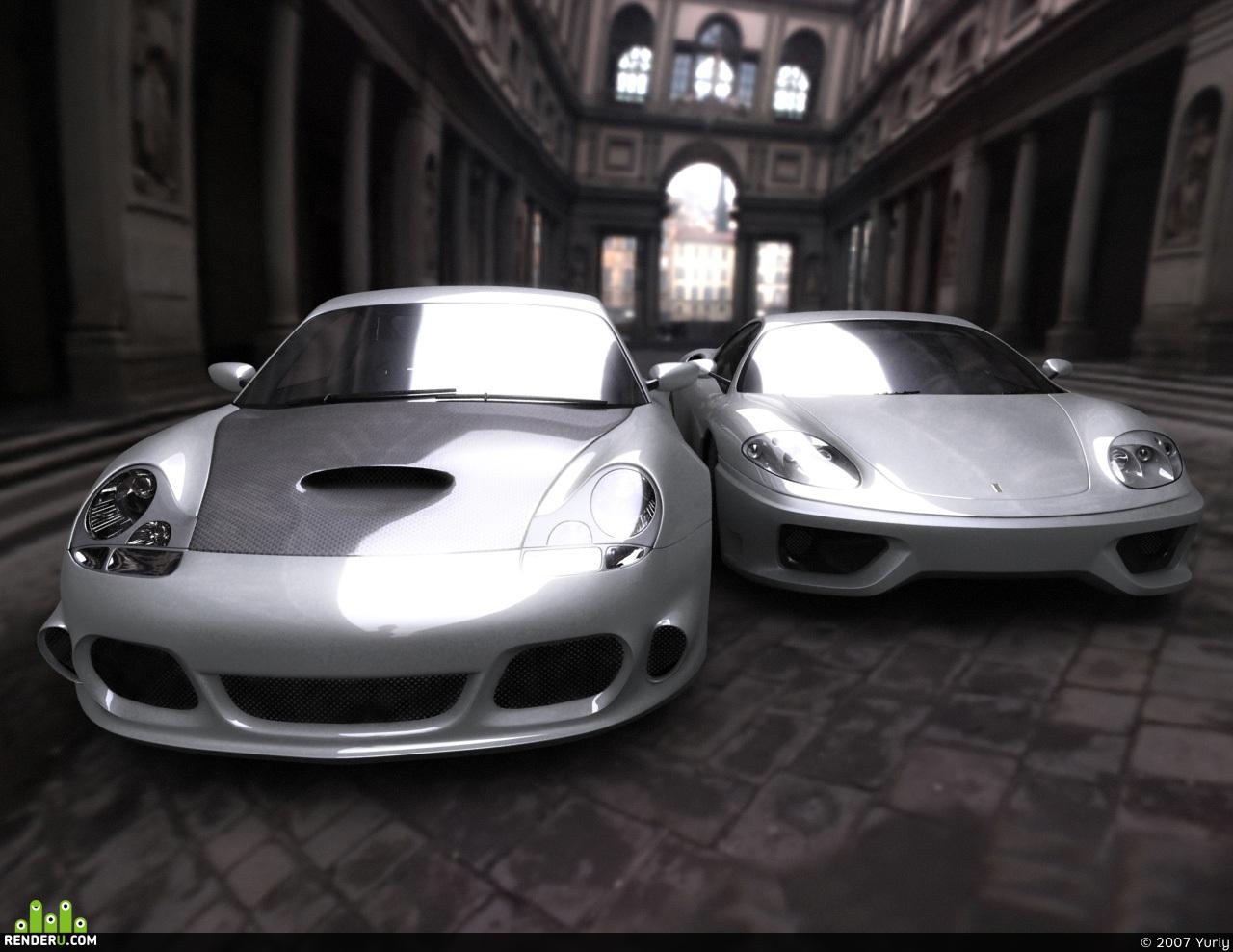 preview F360 vs GT3