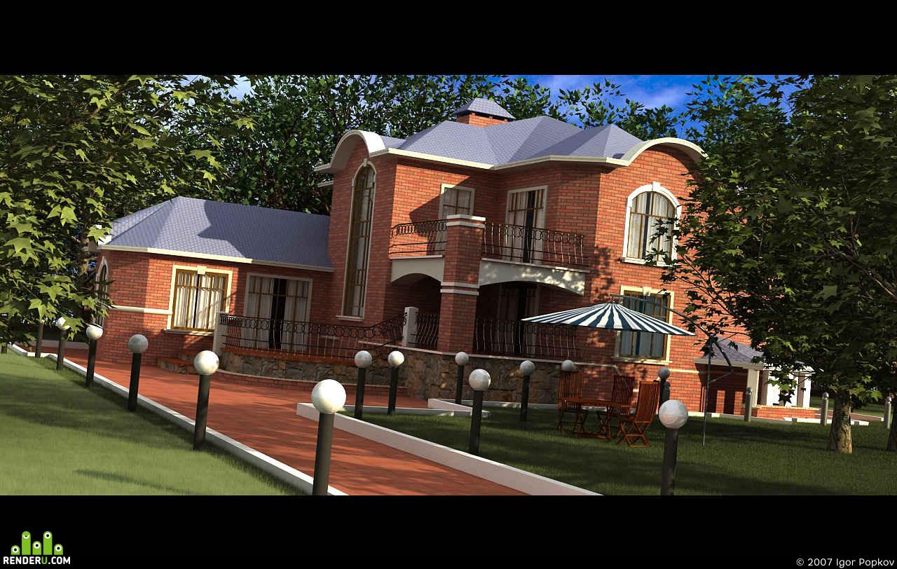 preview Проект загородного домика