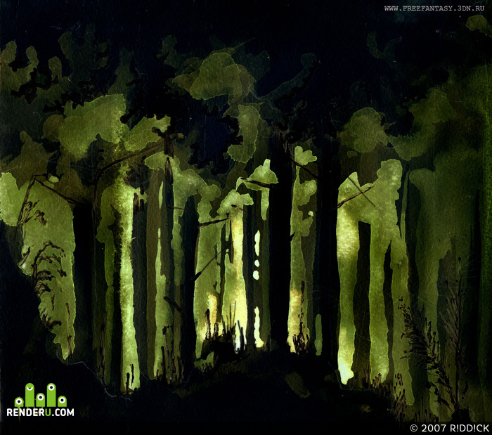 preview Рассвет в лесу