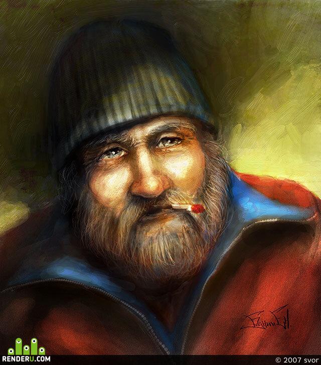 preview портрет старика