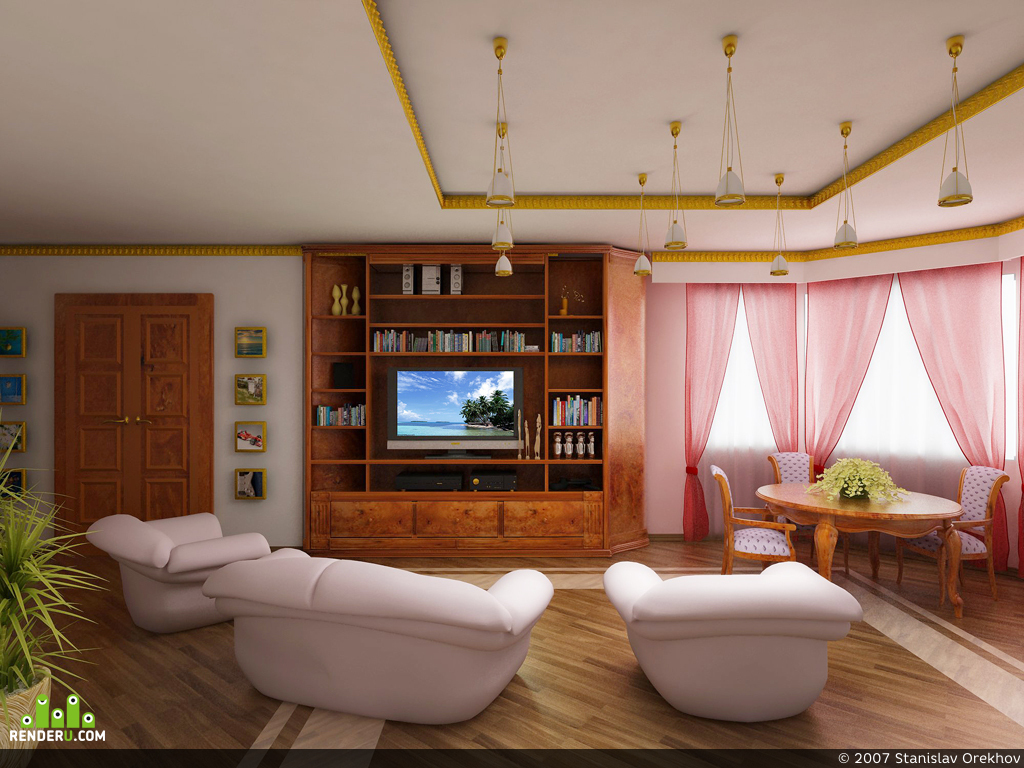 preview Квартира в столице, гостиная