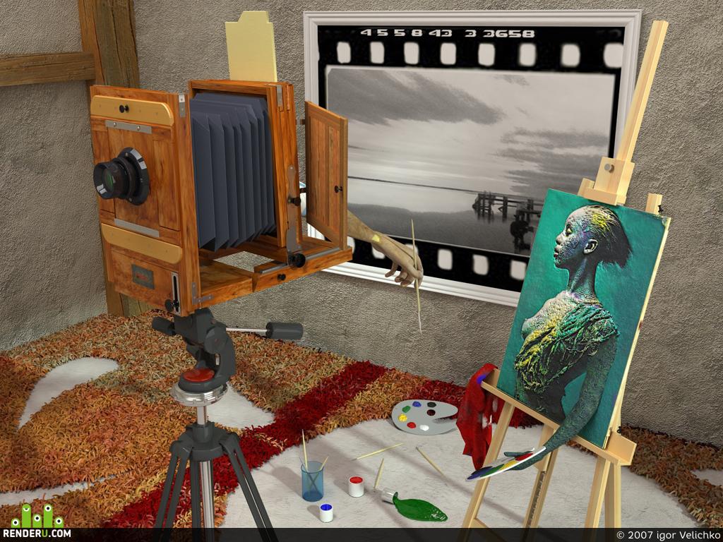 """preview """"живопись это цветная фотография сделанная кистью"""""""