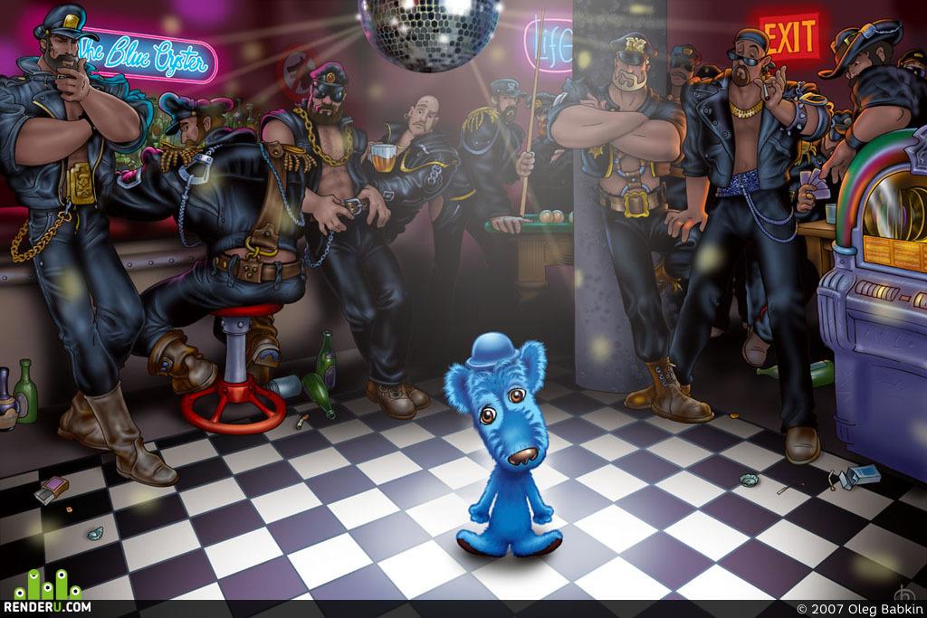 """preview Голубой щенок в баре """"Голубая устрица"""""""