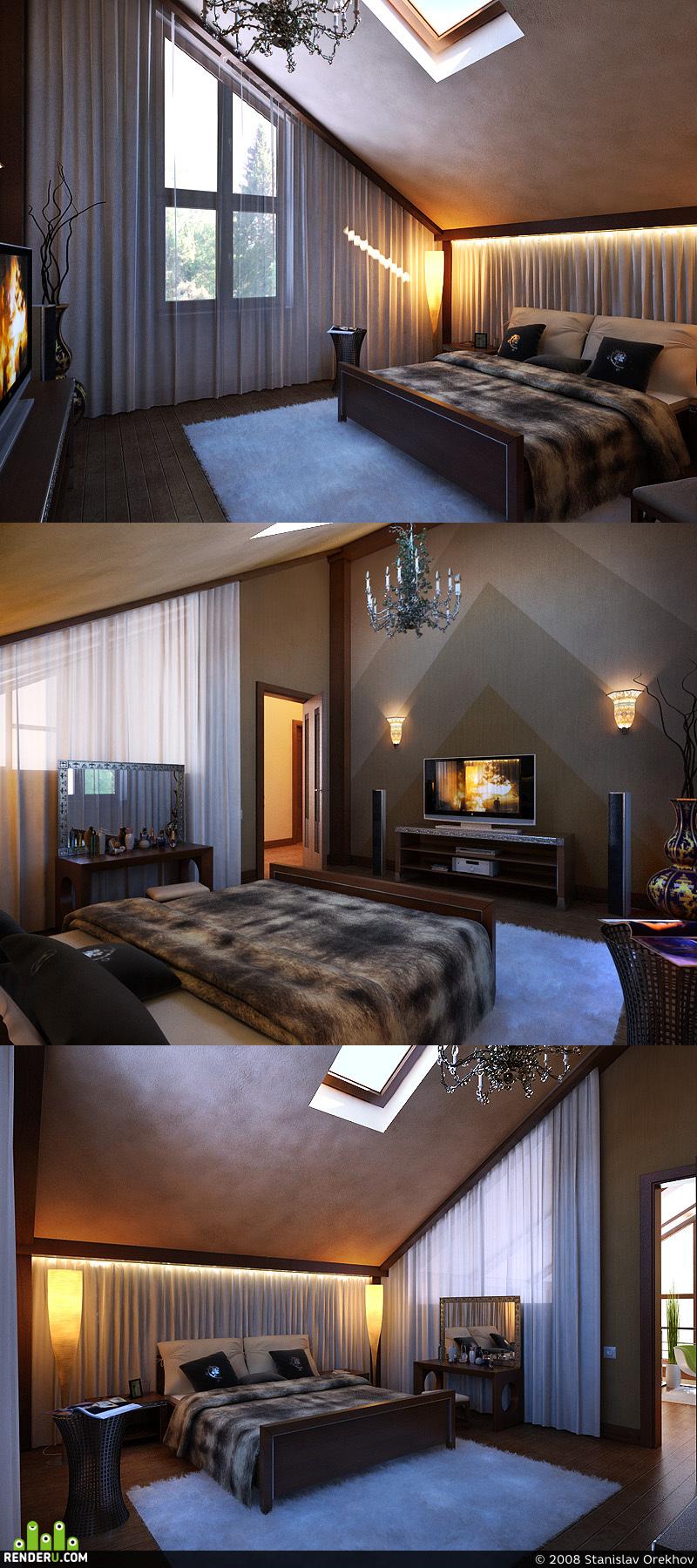 preview проект коттеджа Кубинка-60. спальня 1.