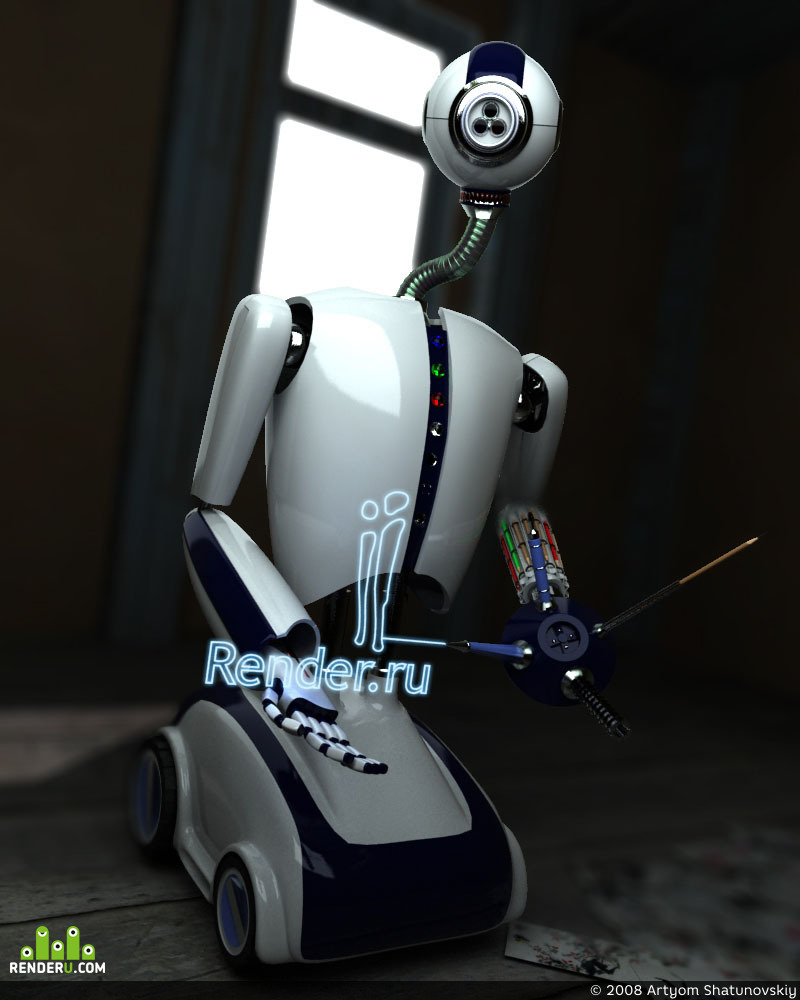 "preview  Робот - художник ""Render - 1"""