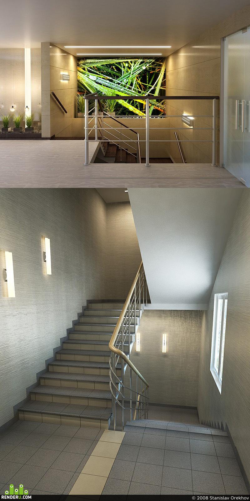 preview Офис на Таганке. лестница и лестничный холл.