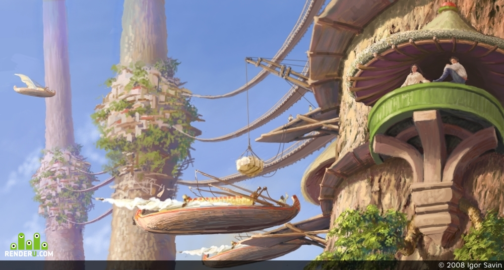 "preview На деревьях. Деревня ""Три сестры"""