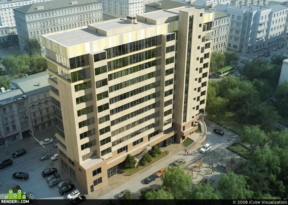 preview  Визуализация жилого дома на Тверской улице.