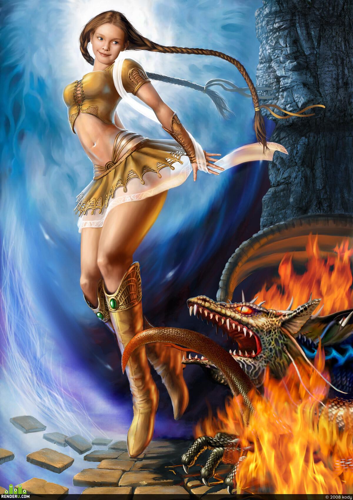 preview Девушка и дракон