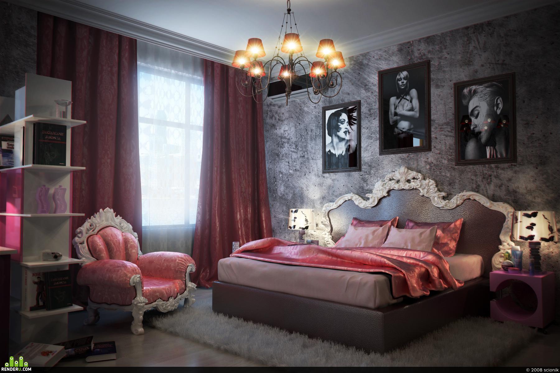 preview гламурная спальня 17-ти летней девочки