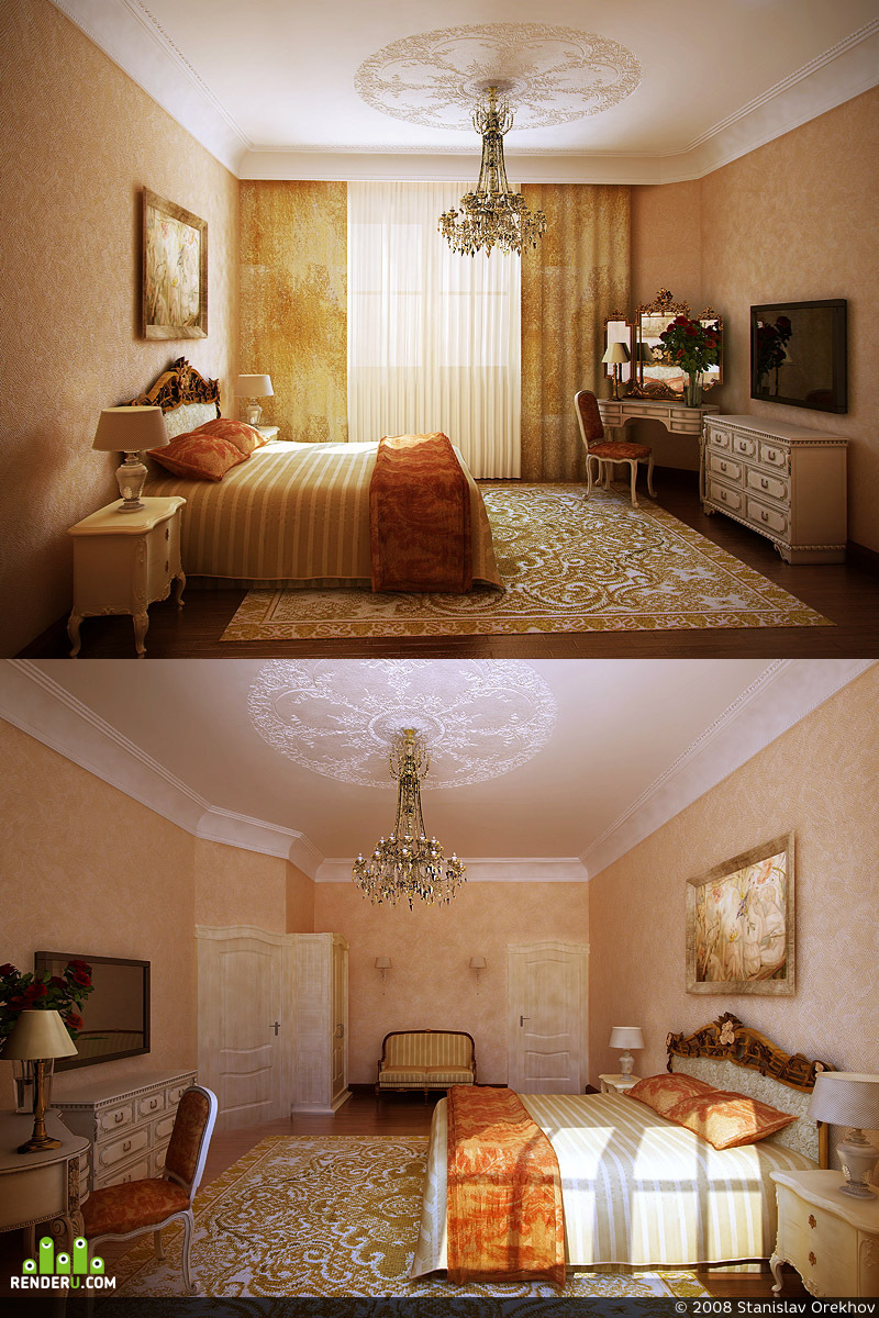 preview Спальня в большом загородном доме