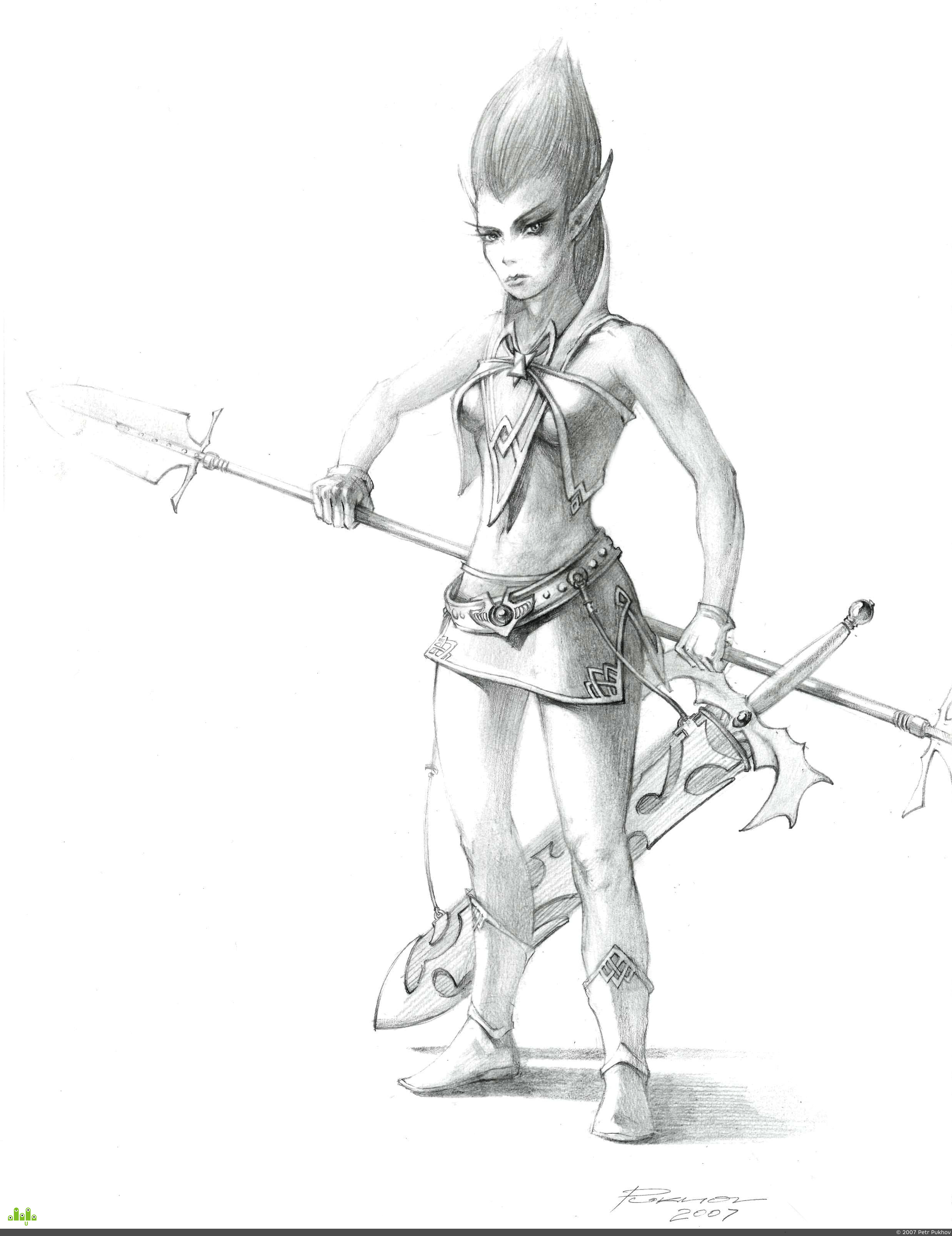 preview Elves Warrior