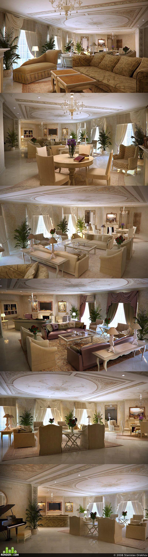 preview Гостиная в большом частном доме