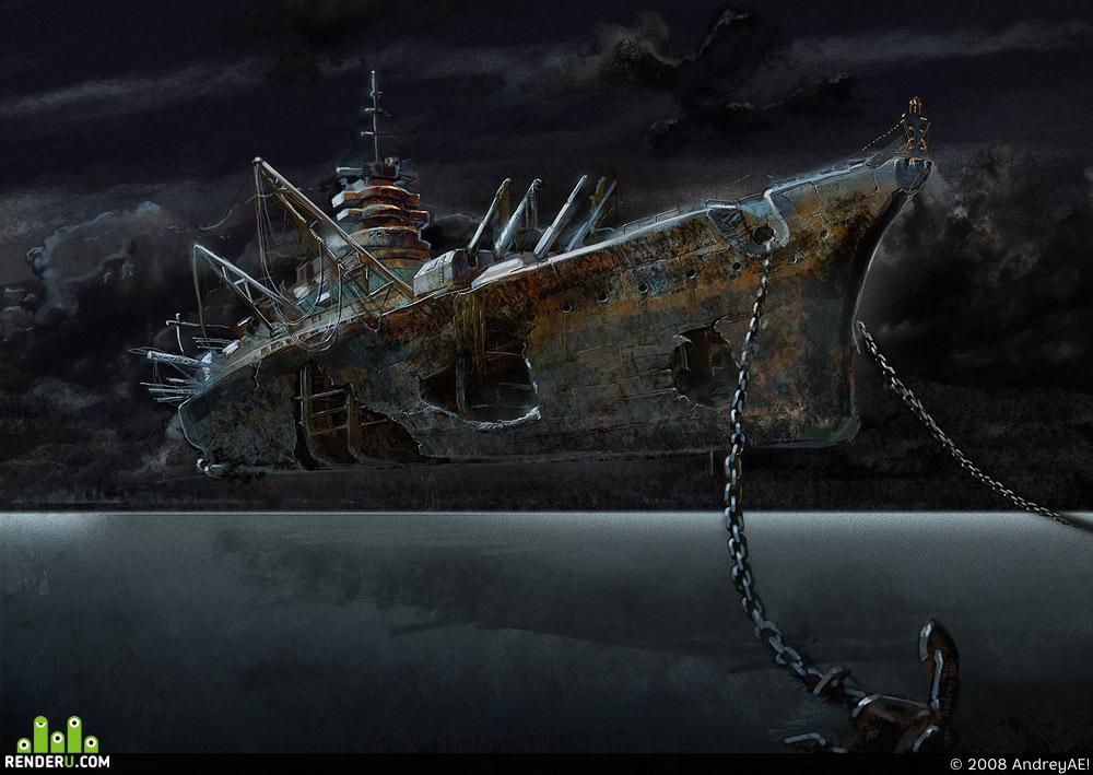 preview тень корабля :)