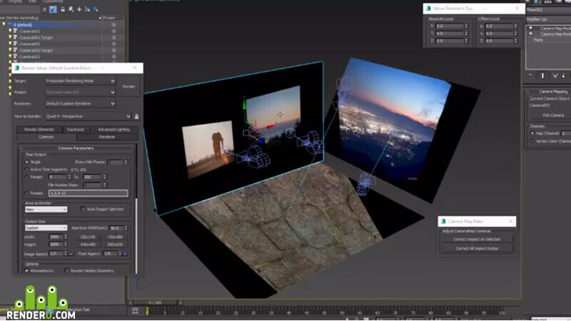 Projecting Camera Maps | Free 3ds Max Script