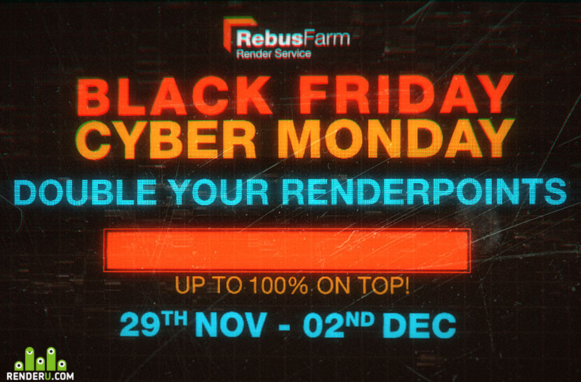 Save big at RebusFarm this Black Friday to Cyber Monday!